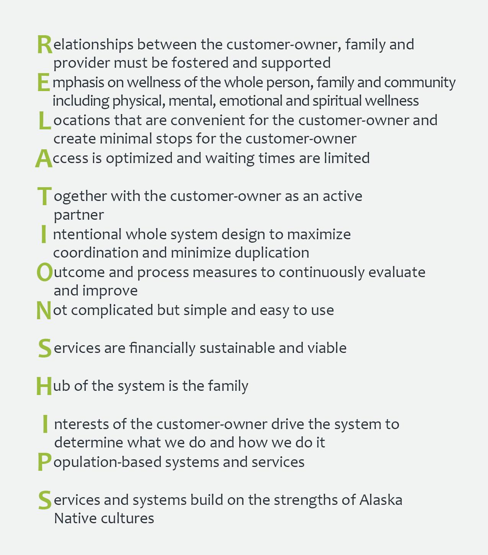 SCF's Operational Principles - RELATIONSHIPS
